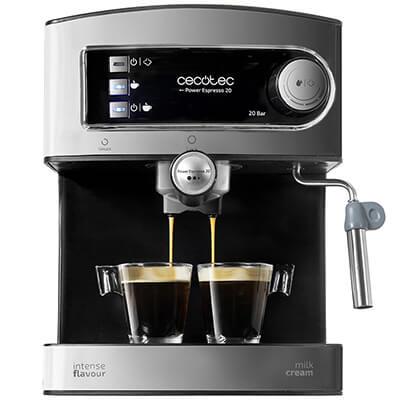 Cecotec Cafetera Eléctrica Power Espresso 20. Presión 20 Bares